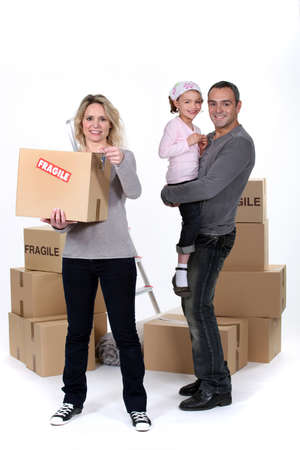 Family moving house Stock Photo - 15915988