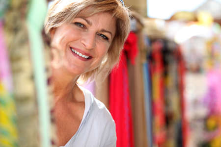 fortysomething: Mature lady at market
