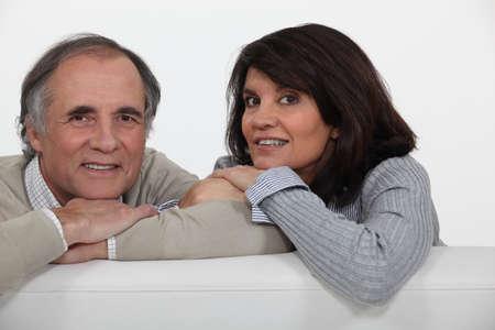 Couple on their sofa  photo