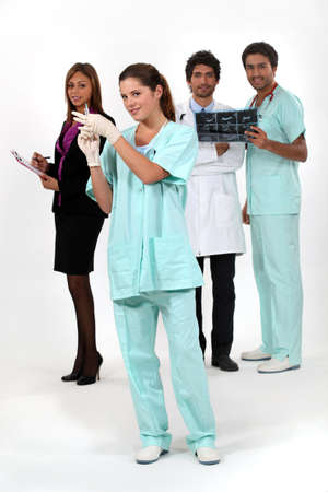 gloves nurse: Medical staff