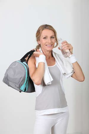 woman in fitness clothes photo