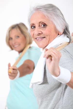 greater: Senior women doing gymnastics