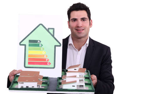 house coats: Proposed low-energy houses Stock Photo