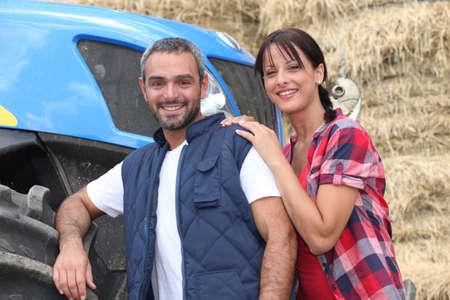 agriculturalist: Farmer couple Stock Photo