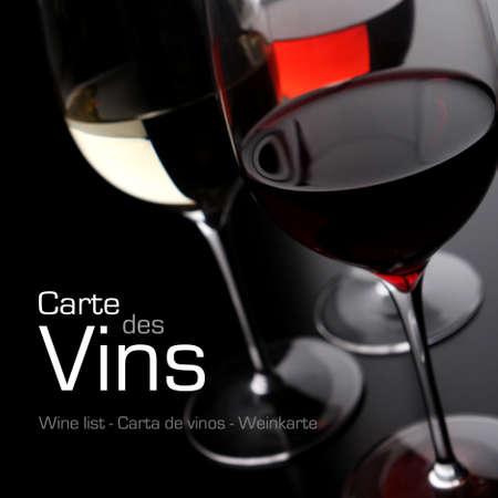 wine pouring: Carta dei vini Archivio Fotografico