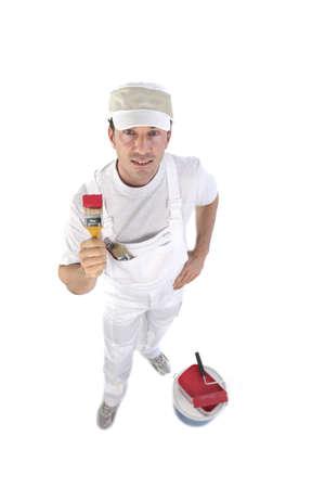 jumpsuite: house painter Stock Photo
