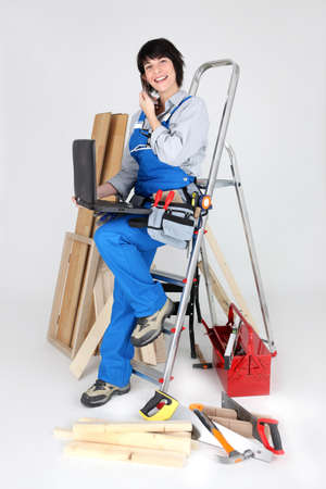 Equipped professional woman Stock Photo - 16037535