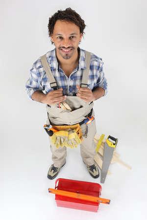 Portrait of a carpenter Stock Photo - 16037674