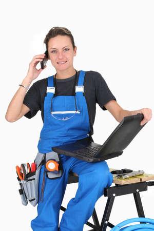 repair woman ready to take the job   photo