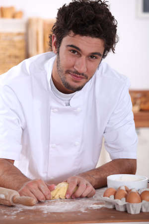 Pastry cook at work Stock Photo - 16037505