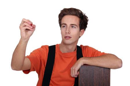 joiner: Worker with wooden flooring