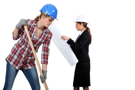 woman handle success: women in public and civil engineering sector Stock Photo