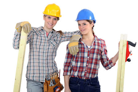 male dominated: A team of tradeswoman