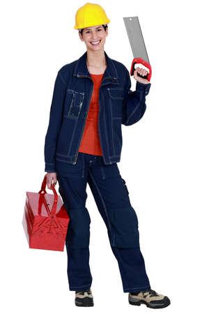 workwoman: Tradeswoman Stock Photo