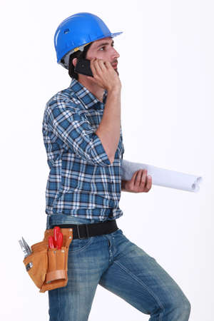 tradesperson: Construction foreman at work