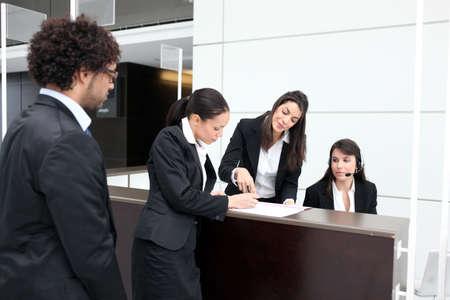 hotel reception: Business-Rezeption
