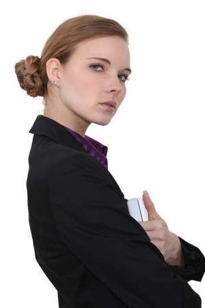 Austere businesswoman Stock Photo - 16190348