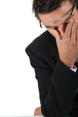 Desperate businessman Stock Photo - 16166780