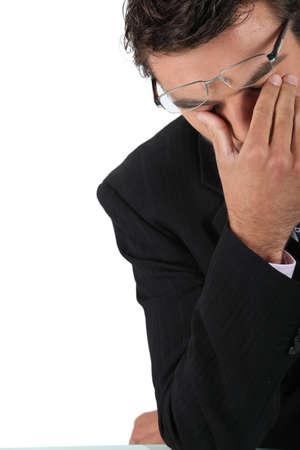 preoccupation: Desperate businessman