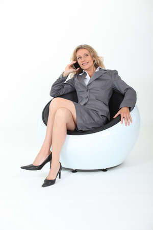 45 55 years: Businesswoman on the phone