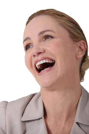 uncontrollable: businesswoman laughing