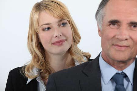 Frau bewundern ihren Chef