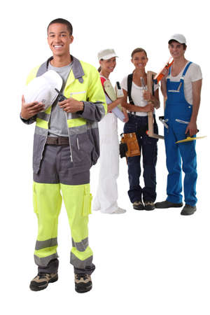 A team of construction worker Stock Photo - 16166762