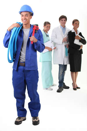 trained nurse: Workers from different domains