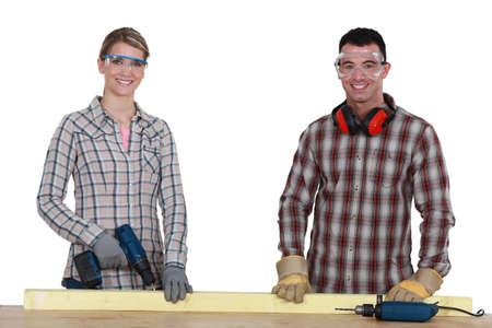 tradespeople: A motivated and enthusiastic group of tradespeople