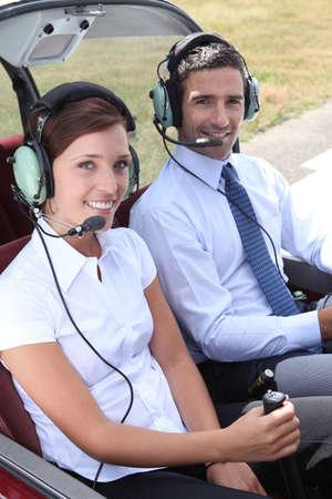 instructor: portrait of pilots Stock Photo