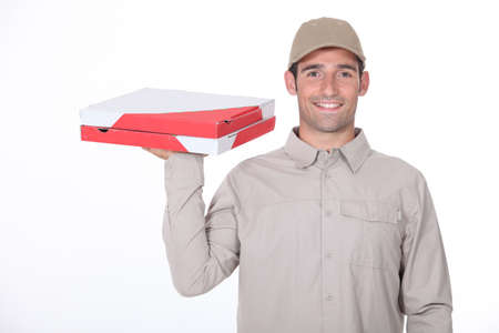 requesting: Pizza Delivery Stock Photo
