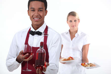 Waiter and waitress photo