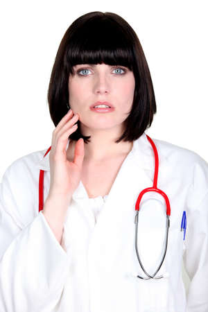 Female doctor worried Stock Photo - 16166627