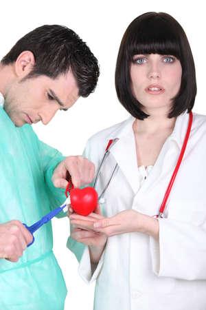 plastic heart: Doctors with plastic heart