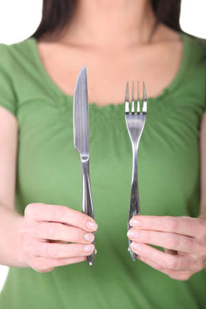 Knife and fork Stock Photo - 16166376