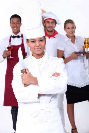 Catering professionals Stock Photo - 16191003