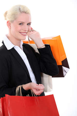 young woman shopping photo