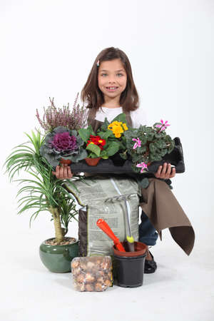 make belief: Portrait of a young florist Stock Photo