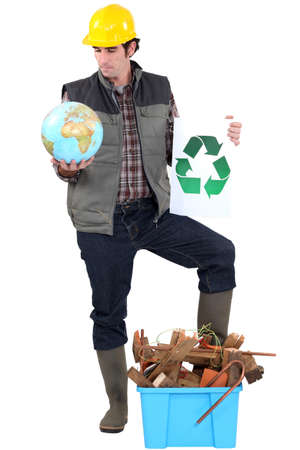 Tradesman campaigning to have more recycling facilities available worldwide photo