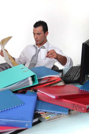 gazette: Break from work Stock Photo