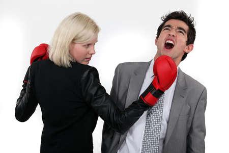 choleric: Punching Stock Photo
