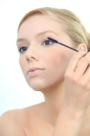 maquillage yeux: Woman eye maquillage Banque d'images