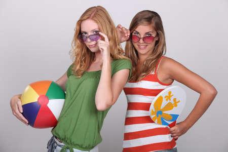 Teenagers wearing beach wear Stock Photo - 16236933