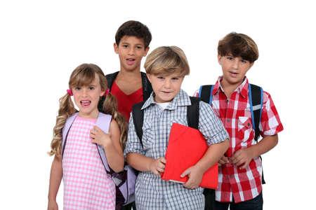 school bags: School children