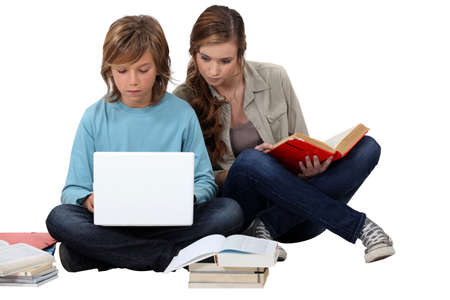 studygroup: Two teenage friends revising