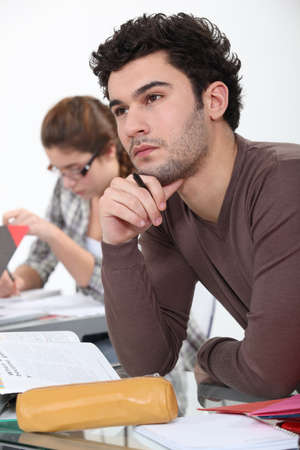 Thoughtful student Stock Photo - 16236940