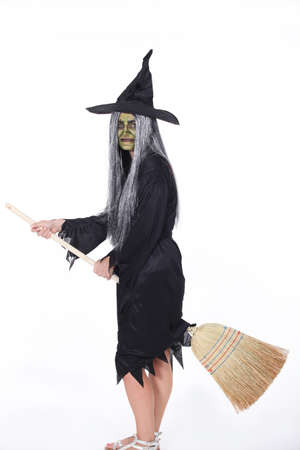 pointed arm: Witch Stock Photo