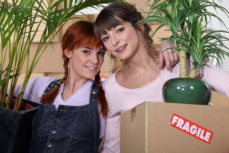 Girls on moving day photo
