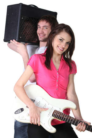 Couple of musicians Stock Photo - 16230614