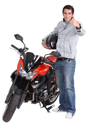 casco de moto: Motorcycle Experience Foto de archivo